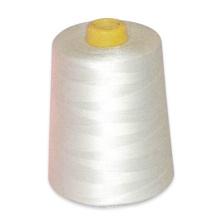 Linha de costura girada 100% crua do poliéster branco