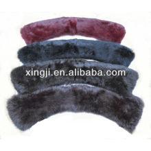 qualidade superior cor tingida coelho pele qualquer tamanho gola de pele de coelho