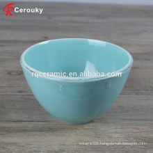 Personalized various style small round ceramic stoneware deep bowl