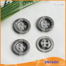 Botón de aleación de zinc y botón de metal y botón de costura de metal BM1649