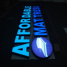 Sinal de LED Cartas Signage Indoor Outdoor