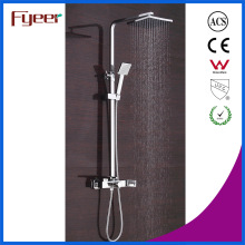Fyeer 2016 New LED Waterfall Faucet Rainfall Bath and Shower Set