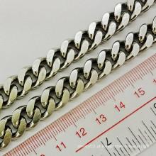Nova moda 6mm Wide Sanke colar de corrente de ouro sólido