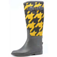 Swallow Grid Riding Rubber Rain Boots