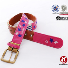 Fashion Homemade Female Charsity Belt Knitted Needlepoint Fabric Belt Splicing