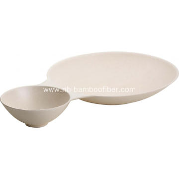 White imitation ceramic sauce dumplings plate