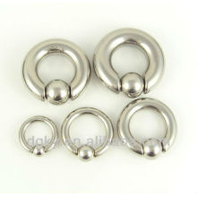 Surgical stainless Ball Closure Ring,jeweled captive ring,BCR body jewelry