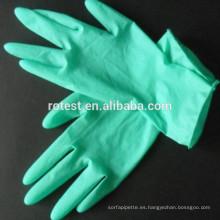 guantes largos de látex verde aloe