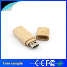 Классический высокоскоростной прямоугольный деревянный флэш-накопитель USB