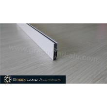 Perfil de alumínio para cortinas tipo suqare de trilho inferior
