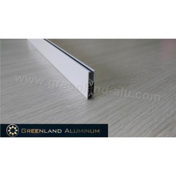 Perfil de aluminio para cortinas Zebra Riel inferior Tipo Suqare