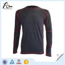 Camisas lisas feitas sob encomenda do roupa interior longo da luva