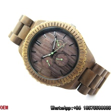 Top Quality Black Walnut-Wood Assista Quartz Relógios Hl17