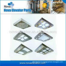 Composant d'ascenseur, plafond en acier inoxydable