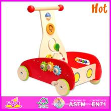 2015 nouveau Go Cart jouet, jouet en bois populaire aller panier, vente chaude en bois aller panier jouet W16e002
