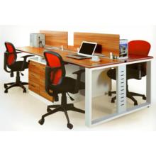 Melamin Metall 4 Personen Büroarbeitsplatz Layout