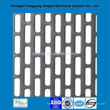 Fábrica directa de alta calidad iso9001 oem personalizada decorativa de metal perforado hojas