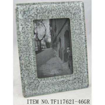 Marco de la foto oval vidrio fundido