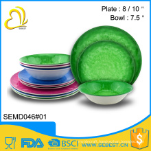new design porcelain imitating tableware dinner set melamine ware