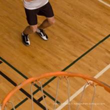 Plancher en bois de cour intérieure de sport de basketball d'intérieur d'érable durable de peinture d'érable