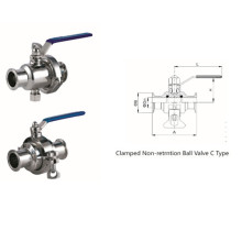 Sanitary Stainless Steel Clamped Non-Retention Ball Valve