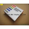 Coaster quadrado da cortiça da forma de 6 PCS / Set com impressão de 1 C (B & C-G099)