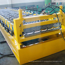 Tuile de toit en matériaux de construction ibr formant la machine