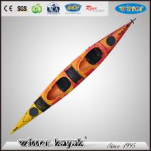 Dernier style assis en double kayak Leisure Life Paddle Sea Kayak