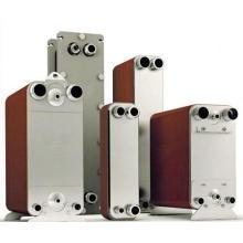 Échangeur de chaleur en plaques à plaques de cuivre pour condenseur à CVC