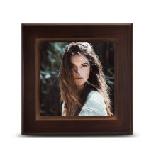 Custom printed logo square  blank 3D sublimation wooden photo frame