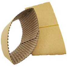 Manchon de café de tasse de papier biodégradable Manchon de tasse de matériau d'emballage de style d'impression couleur personnalisé