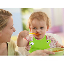 Benutzerdefinierte 100% Food Grade FDA / LFGB Silikon Baby Lätzchen