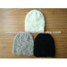 Sombrero de acrílico hecho a mano del invierno de la mano de la señora de la manera