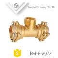 EM-F-A072 soquete tipo latão reduzindo tee flange rosca macho acessórios para tubos