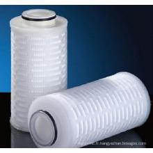 Cartouche de filtre à membrane plissée à base de polypropylène / PP Absoluted Rated
