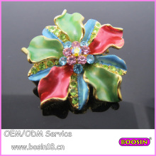 Metal Strass 3D gancho flor broche Pin 5687