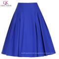 Grace Karin Women's High Stretchy Vintage Retro Blue A-Line Short Skirt CL010451-3