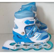 Синие роликовые коньки