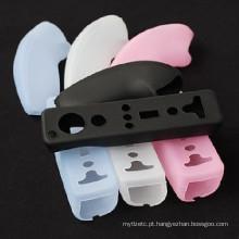Capa de silicone capa de pele macia capa de capa de borracha à prova de pó para Nintendo para Wii Remote Controller