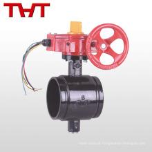 Viton nbr assento válvula de borboleta upvc elétrica com tamper switch