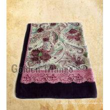 Écharpe en soie 50% en laine 50% en 1006 avec un jarret en sergé