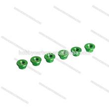 Porca de trava da cor verde M5 Nylock auto que trava porcas da flange do Hex