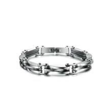 En stock bracelets en acier inoxydable pour les femmes, bracelet étanche, bracelet logo personnalisé