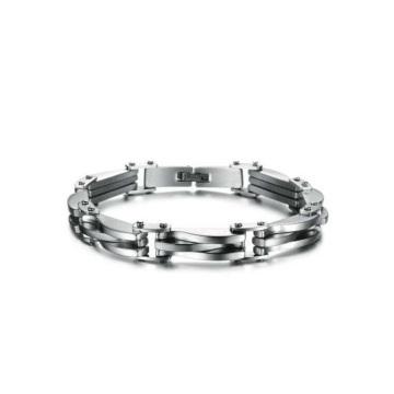 Em estoque pulseiras de aço inoxidável para as mulheres, pulseira à prova d 'água, pulseira logotipo personalizado