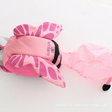 Mochilas de forma de borboleta de bebê sacos de padrão de forma animal com chapéus para crianças do jardim de infância