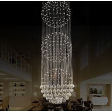 beaded led chandelier remote control crystal light