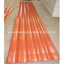 Matériau de construction de tôle de toiture ondulée en acier PPGI