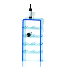 Vaulted Acrylic Shelf for Wine Display, Acrylic Bottle Display Racks