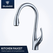 Centerset Countertop Pull Down Sink Faucet For Kitchen