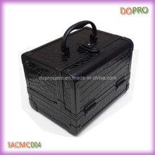 Venta caliente pequeña caja del tren del maquillaje del cocodrilo (SACMC004)